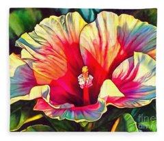 Art Floral Interior Design On Canvas Fleece Blanket