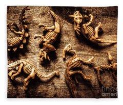 Art In Palaeontology Fleece Blanket