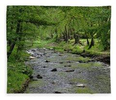 Art In The Forest Fleece Blanket