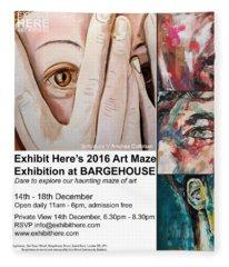 Art Maze Exhibition, London Fleece Blanket