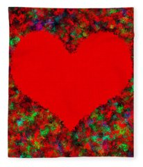 Art Of The Heart Fleece Blanket