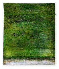 Art Print Green White Fleece Blanket