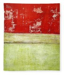 Art Print Rotgelb Fleece Blanket