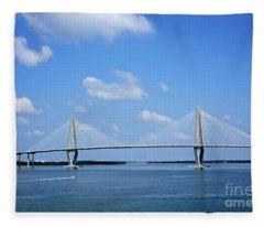 Arthur Ravenel Jr. Bridge - Charleston Fleece Blanket