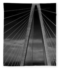 Arthur Ravenel Jr Bridge Fleece Blanket