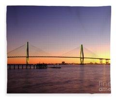 Arthur Ravenel Jr. Bridge Fleece Blanket