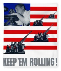 Artillery -- Keep 'em Rolling Fleece Blanket