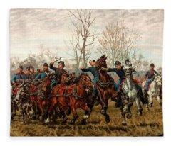 Artillery To The Front Fleece Blanket