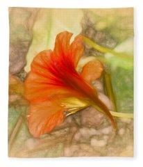 Artistic Red And Orange Fleece Blanket