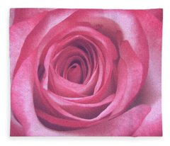 Artistic Red Rose Fleece Blanket