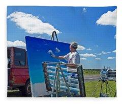 Artistic Skies Fleece Blanket