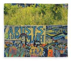 Artists Run The Planet Fleece Blanket