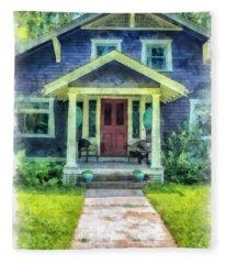 Arts And Crafts Home Deerfield Ma Watercolor Fleece Blanket
