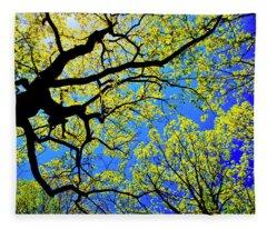 Artsy Tree Canopy Series, Early Spring - # 01 Fleece Blanket