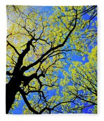 Artsy Tree Canopy Series, Early Spring - # 02 Fleece Blanket