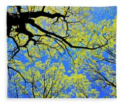 Artsy Tree Canopy Series, Early Spring - # 03 Fleece Blanket