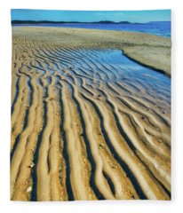 Artwork Of The Tides At Sandy Hook Fleece Blanket