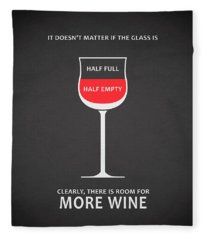 Wine Glasses 1 Fleece Blanket