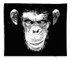 Evil Monkey Fleece Blanket