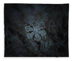 Snowflake Photo - Vega Fleece Blanket