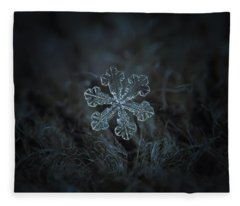 Snowflake Photo - Vega Fleece Blanket