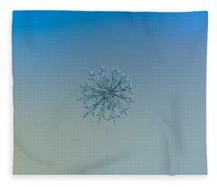 Snowflake Photo - Twelve Months Fleece Blanket