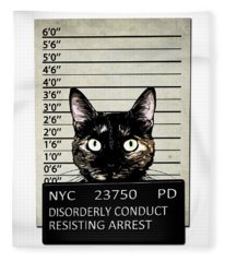 Kitty Mugshot Fleece Blanket