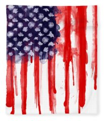 American Spatter Flag Fleece Blanket
