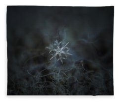 Snowflake Photo - Rigel Fleece Blanket