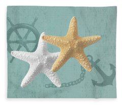 Nautical Stars Fleece Blanket