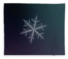 Snowflake Photo - Neon Fleece Blanket