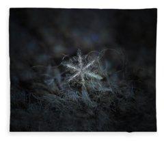 Leaves Of Ice Fleece Blanket