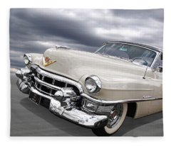 Cream Of The Crop - '53 Cadillac Fleece Blanket