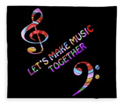 Let's Make Music Together Fleece Blanket