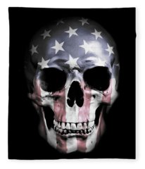 American Skull Fleece Blanket