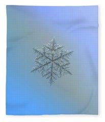 Snowflake Photo - Majestic Crystal Fleece Blanket