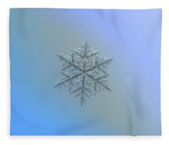 Snowflake Photo - Majestic Crystal Fleece Blanket