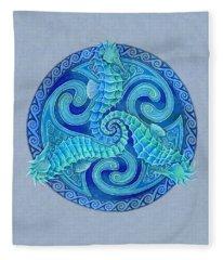 Seahorse Triskele Fleece Blanket