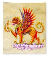 Singha Winged Lion Fleece Blanket