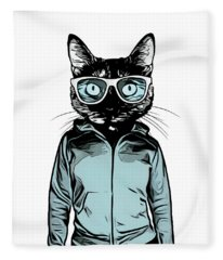 Cool Cat Fleece Blanket