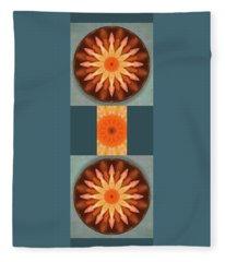 Pumpkin Mandala -  Fleece Blanket