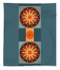Pumpkin Mandala -  Fleece Blanket