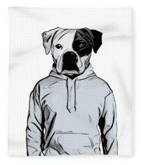 Cool Dog Fleece Blanket