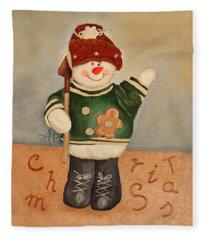 Snowman Junior Fleece Blanket