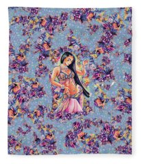 Dancing In The Mystery Of Shahrazad Fleece Blanket