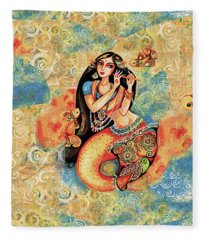 Aanandinii And The Fishes Fleece Blanket