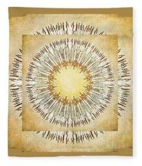 Cattail Mandala - Fleece Blanket