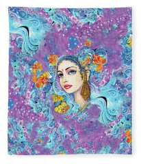The Veil Of Aish Fleece Blanket