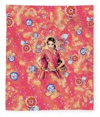 Devika Dance Fleece Blanket
