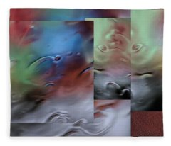 Through The Rain. Glimpses - Fleece Blanket